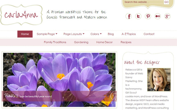 Carla Anna - Girly WordPress Theme