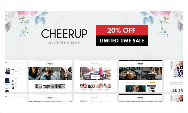 CheerUP - Feminine WordPress Themes