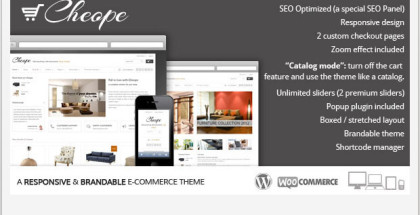 Cheope Shop - Store WordPress Theme