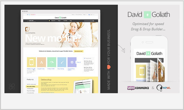 David & Goliath - Girly WordPress Theme