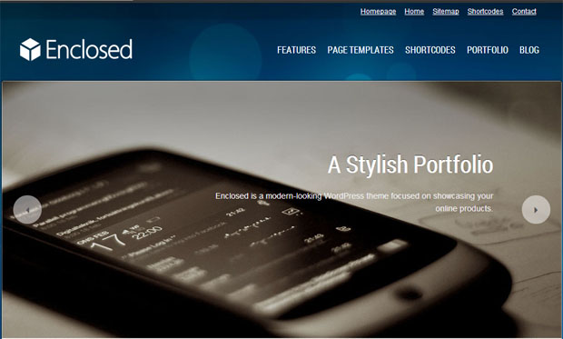Enclosed - Responsive Showcase WordPress Theme