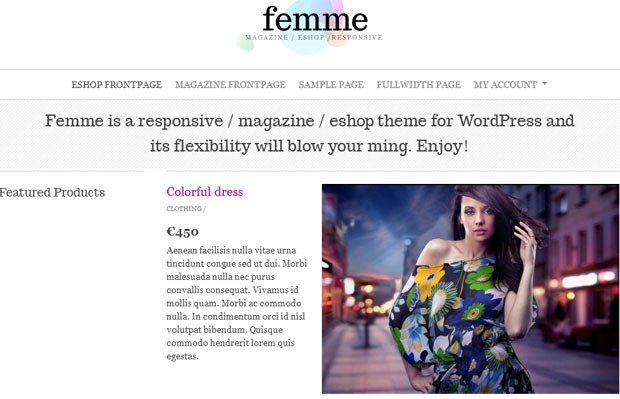 Femme - Girly WordPress Theme