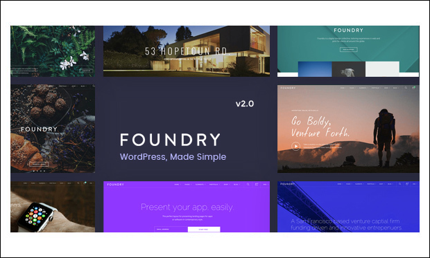 Foundry - Showcase WordPress Themes