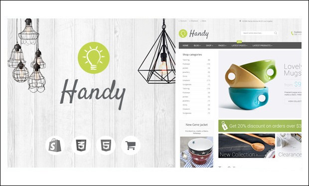 Handy - WordPress Themes for Stores