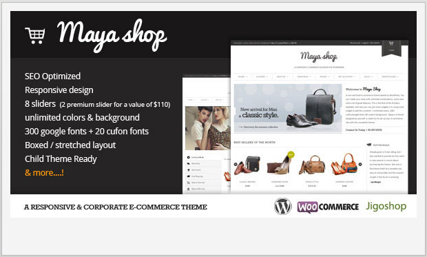 MayaShop - Store WordPress Theme