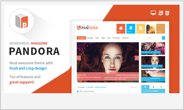 Pandora - Three Column WordPress Theme