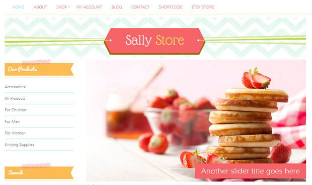 Sally Store - Store WordPress Theme