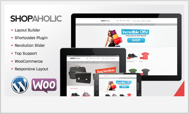 Shopaholic - Store WordPress Theme