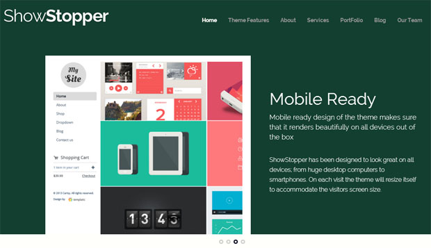 ShowStopper - Responsive Showcase WordPress Theme
