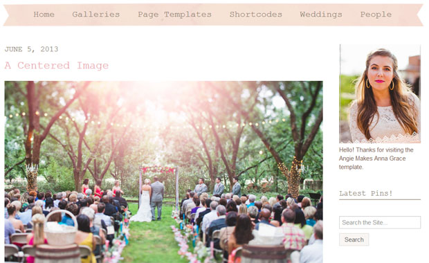 The Anna Grace - Girly WordPress Theme