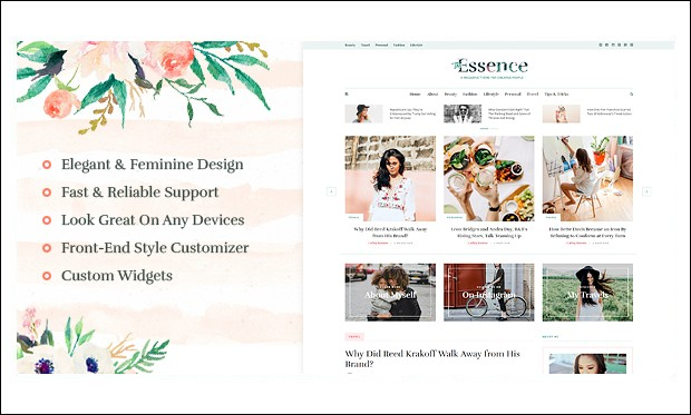 The Essence - Feminine WordPress Themes