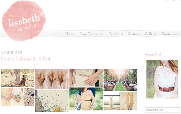 The Lisabeth - Girly WordPress Theme