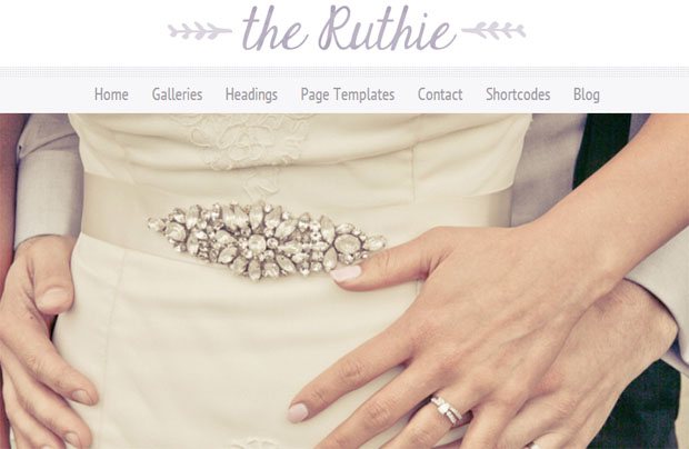 The Ruthie - Girly WordPress Theme