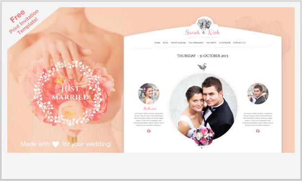 The Wedding Day - Girly WordPress Theme