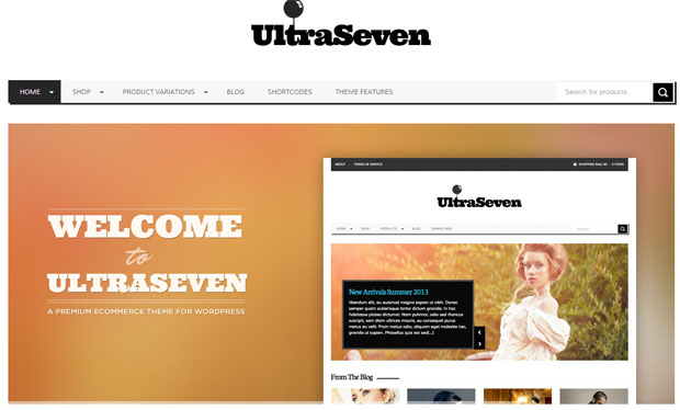 Ultraseven - Store WordPress Theme