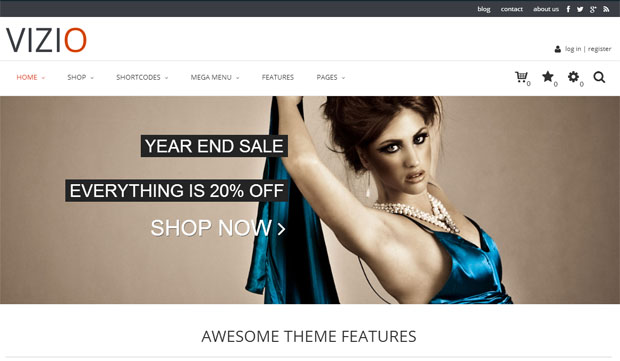 Vizio - Store WordPress Theme