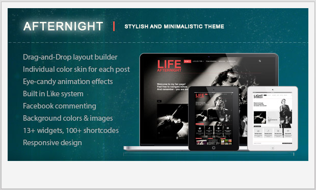 Afternight -Minimalist Responsive WordPress Theme