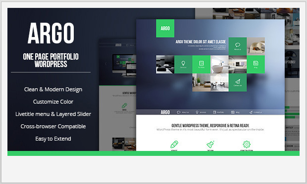 Argo -Single Page WordPress Theme