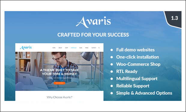 Avaris - Photographer WordPress Themes