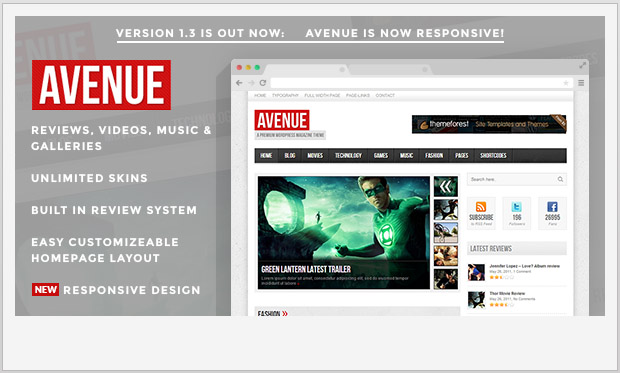 Avenue -Responsive Magazine Style WordPress Theme