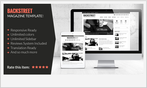 Backstreet -Best Responsive WordPress Theme for Bloggers