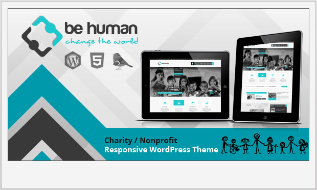 Be Human -Responsive charity wordpress theme