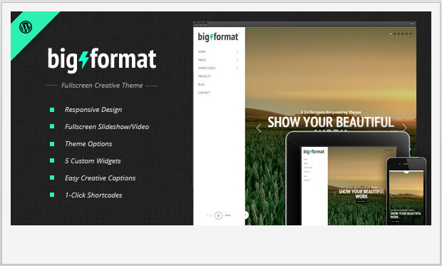 BigFormat -Responsive WordPress Theme for Photographers