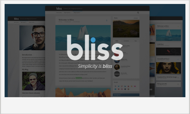 Bliss -Best Responsive WordPress Theme for Bloggers