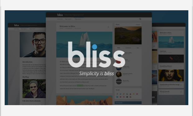Bliss -Minimalist Responsive WordPress Theme