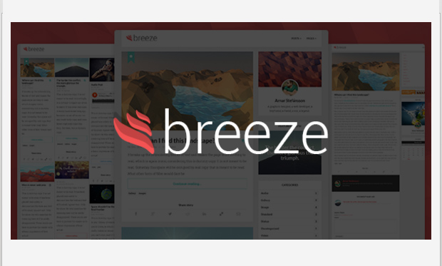 Breeze -Minimalist Responsive WordPress Theme