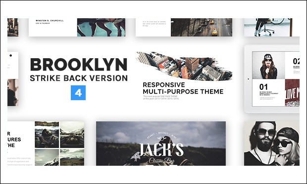 Brooklyn - Single Page WordPress Themes
