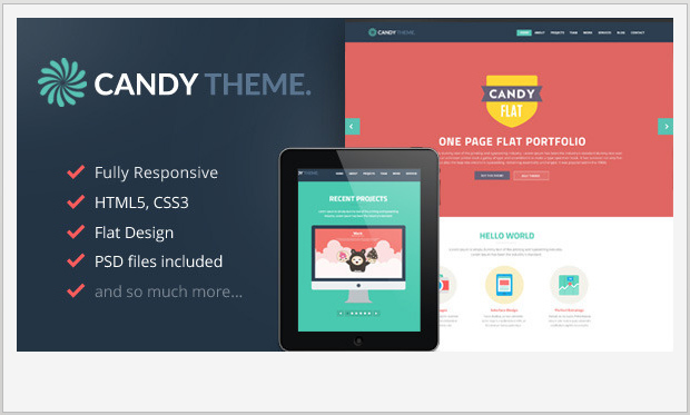 Candy -Single Page WordPress Theme