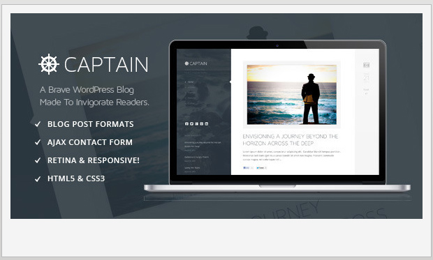 Captain -Best Responsive WordPress Theme for Bloggers