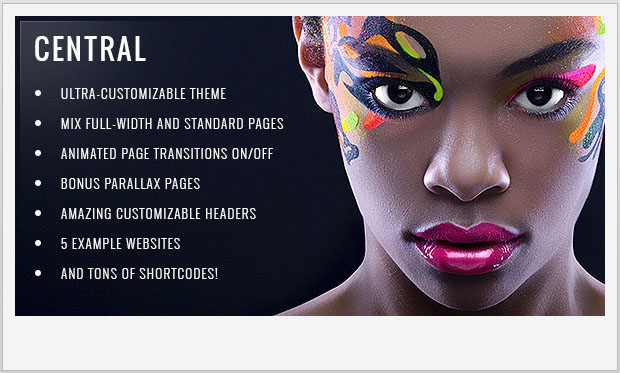 Central -Responsive Parallax WordPress Theme