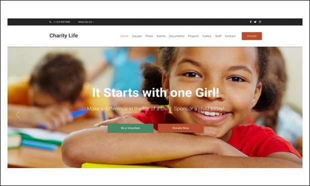 Charity Life - WordPress Themes for Charities