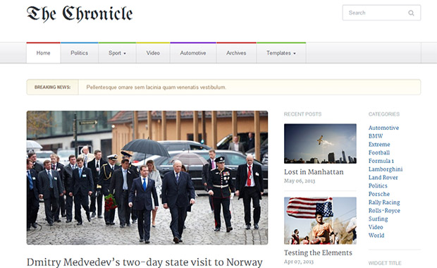 Chronicle -Responsive Three Column WordPress Theme