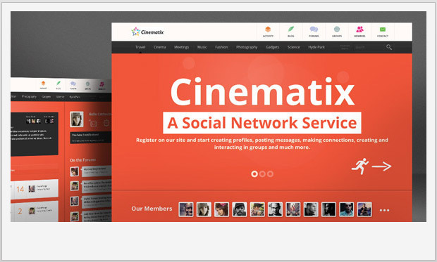 Cinematix -Responsive Buddypress WordPress Theme