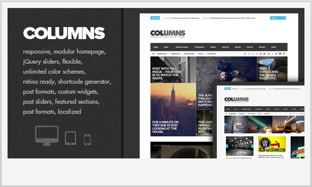 Columns -Best Responsive WordPress Theme for Bloggers
