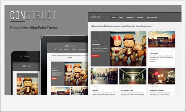 Construct -Best Responsive WordPress Theme for Bloggers