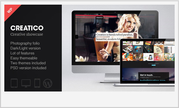 Creatico -Single Page WordPress Theme