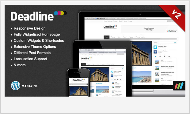 Deadline -Responsive Magazine Style WordPress Theme