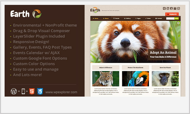 Earth - Responsive Non Profit WordPress Theme