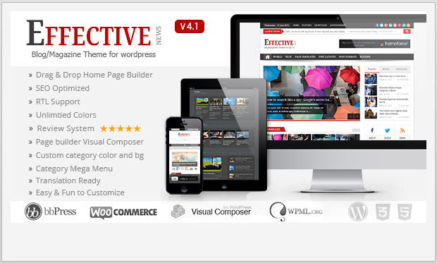 Effective News -Best Responsive WordPress Theme for Bloggers