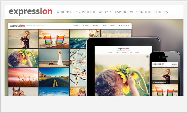 Expression -Responsive WordPress Theme for Photographers