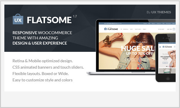 Flat -Responsive WooCommerce WordPress Theme