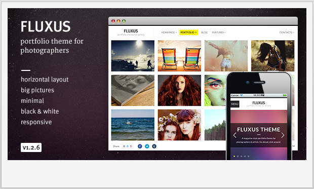 Fluxus -Responsive WordPress Theme for Photographers