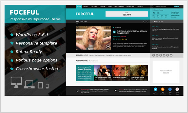 ForceFul -Best Responsive WordPress Theme for Bloggers