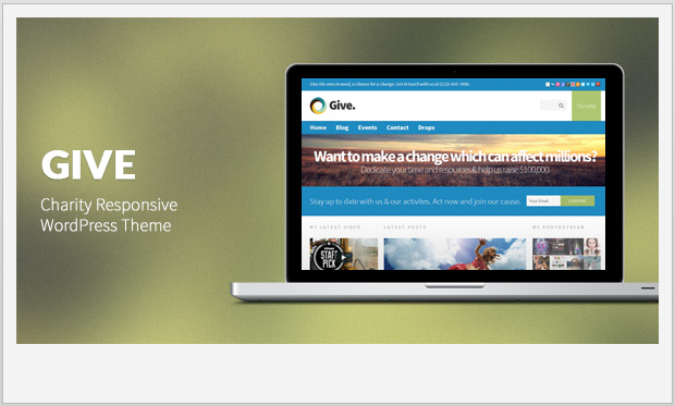 Give -Responsive charity wordpress theme