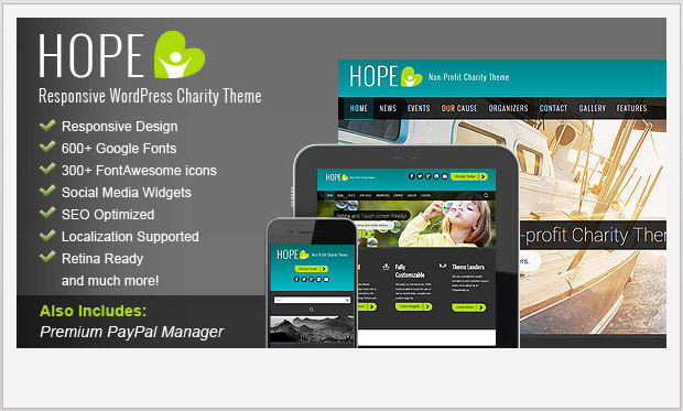 HOPE -Responsive Non Profit WordPress Theme