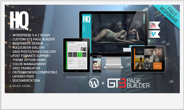 HQ Photography -Responsive WordPress Theme for Photographers